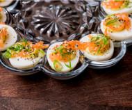 Seoul Sister Deviled Eggs - kimchi recipe