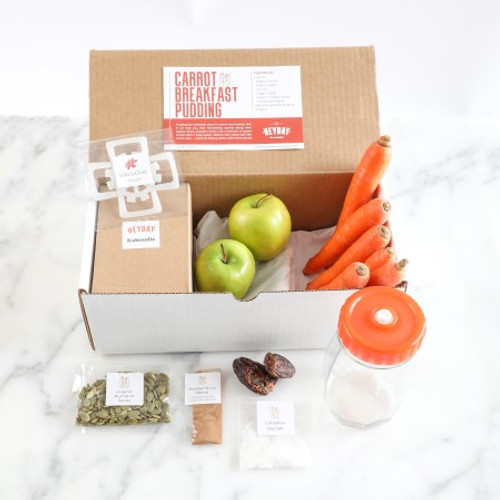 The Carrot Cake complete fermentation kit includes everything that you need to make the recipe immediately.