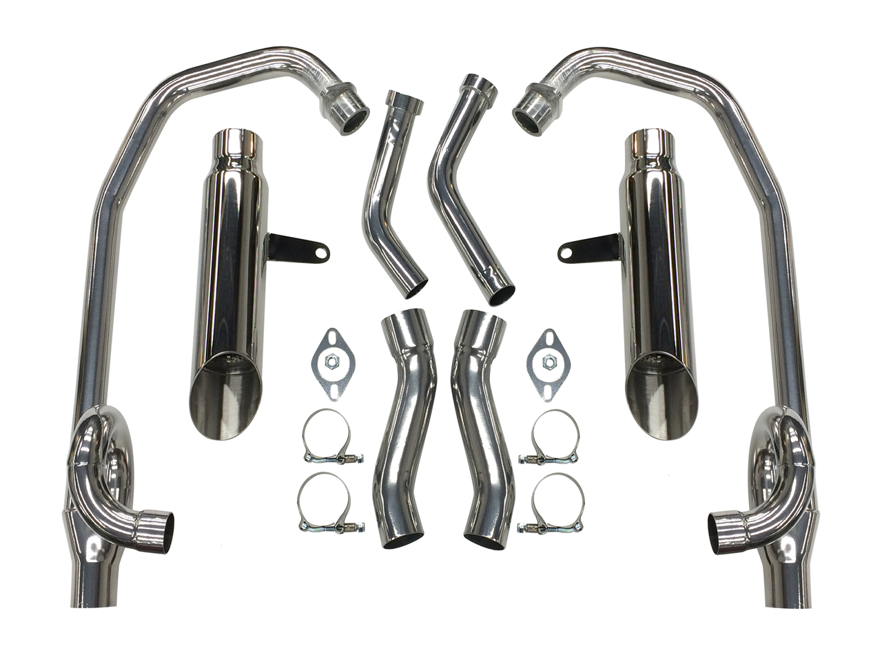 Maxflow StreetPro 4-2 Exhaust w/ Slash Cut Mufflers