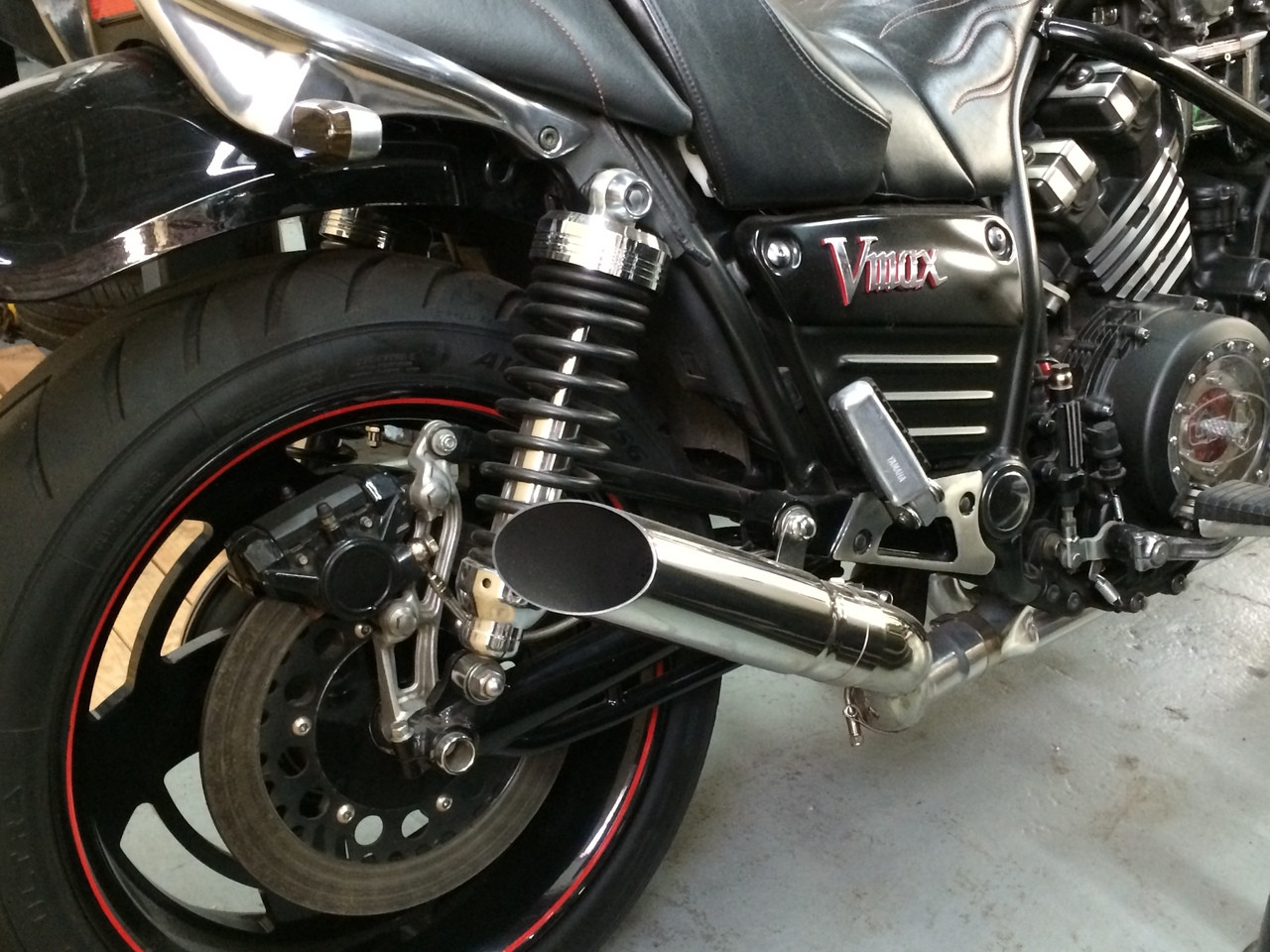 DragStar 4-1 Exhaust w/ Polished 304 Stainless Slash Cut Muffler - Ceramic  Coated (85-07 All)