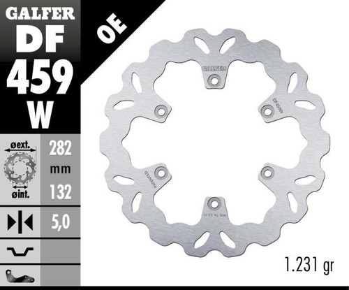 Galfer Standard Solid Mount Wave® Rear Rotor (85-07 All)