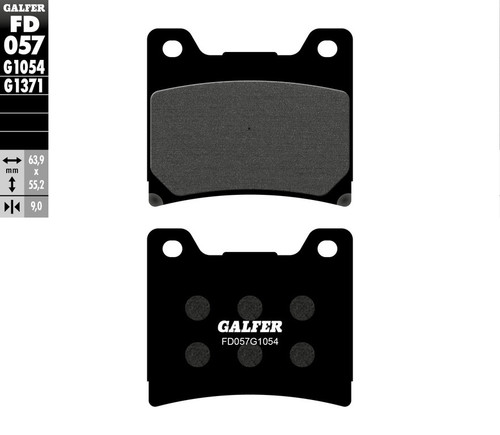 Galfer Semi-Metallic Compound Front Brake Pads 1985-1992 Yamaha Vmax