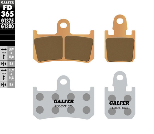 Galfer HH Sintered Ceramic Compound Front Brake Pads 2009-2019 Yamaha Vmax