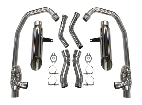 StreetPro 4-2 Exhaust w/ Slash Cut Mufflers - Ceramic Coated 1985-2007 Yamaha Vmax