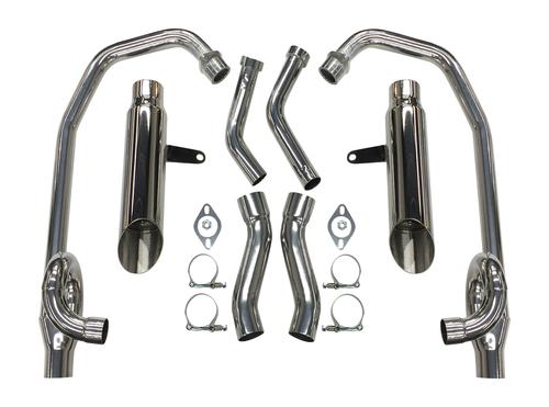 StreetPro 4-2 Exhaust w/ Slash Cut Mufflers - Ceramic Coated (85-07 All)