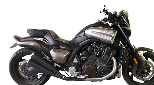 MegaMax 4-2-4 Slip On Exhaust - Ceramic Coated Black (09-20 All)