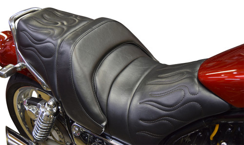 Star Rider Low Seat Conversion - Stitched Flames (85-07 All)