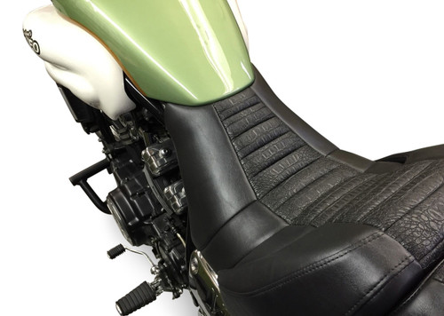 Star Rider Low Seat Conversion - Pleated Black Alligator Print (85-07 All)