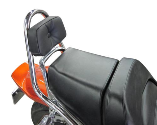 Renntec® Sissy Bar w/Backrest Pad - Chrome (85-07 All)