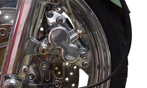 Polished Front Brake Caliper - Exchange (85-07 All)