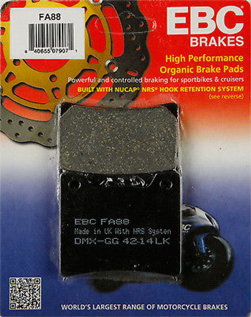 High Performance Organic Brake Pads - Front (85-92 All)