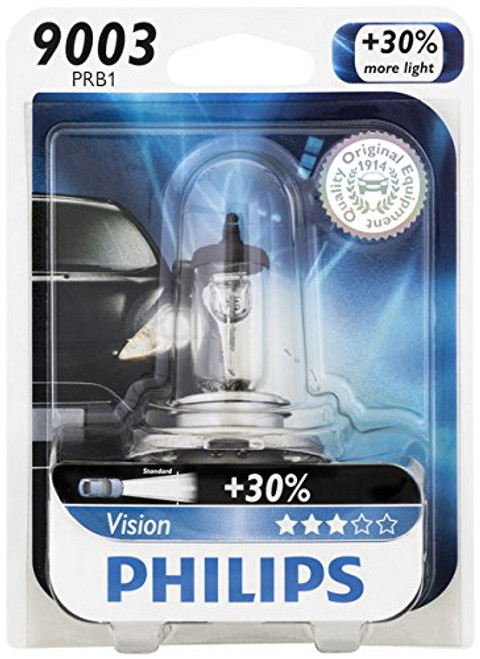 Philips 9003 Vision Upgrade Headlight Bulb (85-07 All)