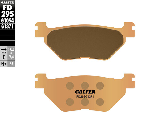 Galfer HH Sintered Ceramic Compound Rear Brake Pads 2009-2019 Yamaha VMAX