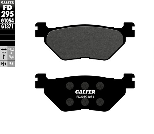 Galfer Semi-Metallic Compound Rear Brake Pads 2009-2019 Yamaha VMAX