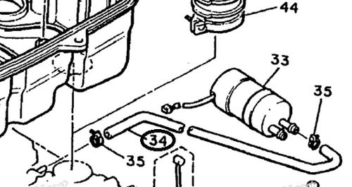 Fuel Hose (L220) - Fuel Pump to Carburetors (85-07 All)