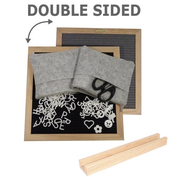 """Double-Sided Felt Letter Board 10"""" x 10"""""""