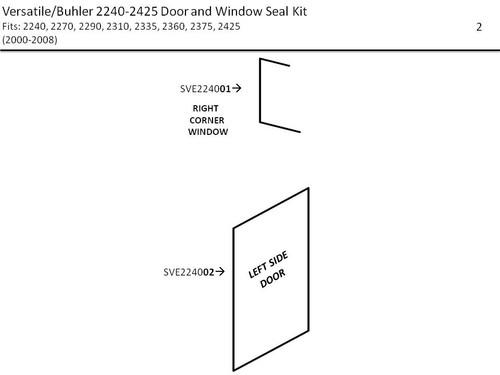 VERSATILE/BUHLER 2240-2425 DOOR & WINDOW SEAL KIT
