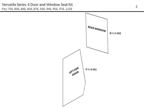 VERSATILE SERIES 4  DOOR AND WINDOW SEAL KIT