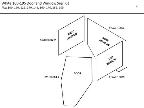 WHITE 100- WHITE 195 DOOR AND WINDOW SEAL KIT