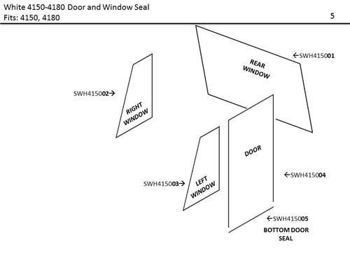 WHITE 4150-4180 DOOR AND WINDOW SEAL KIT