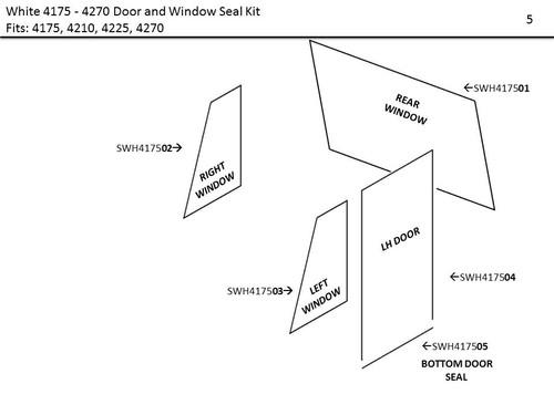 WHITE 4175 - 4210 & 4225 - 4270 DOOR & WINDOW SEAL KIT