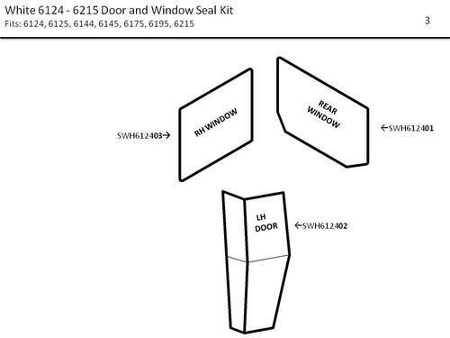 WHITE 6124 - 6215  DOOR AND WINDOW SEAL KIT