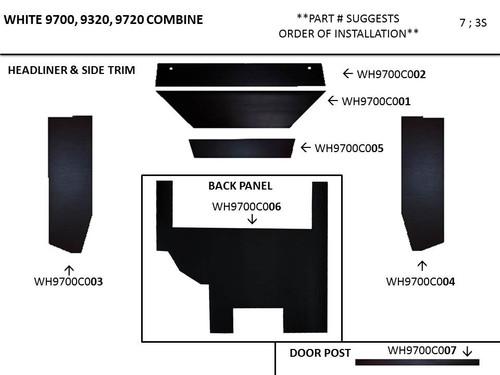 WHITE 9700 - 9720 COMBINE