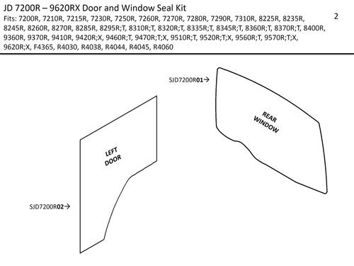 JD 7200R-9620RX DOOR & WINDOW SEAL KIT