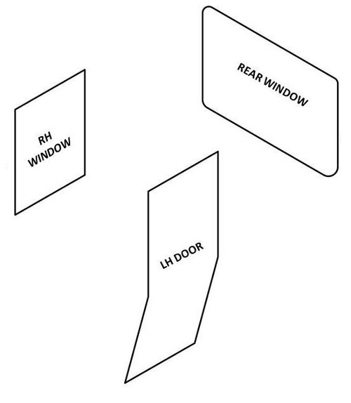 JOHN DEERE 3020 DOOR AND WINDOW SEAL KIT (FACTORY/HINSON CAB)