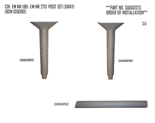 CIH MX 180-270 PROFORM POST COVERS (GRAY)