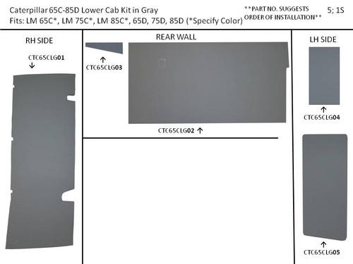 CATERPILLAR CHALLENGER 65C-85D PROFORM LOWER CAB KIT (GRAY)