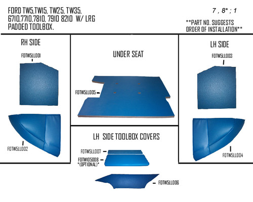 FORD TW5, 6710 LOWER KIT (BLUE)