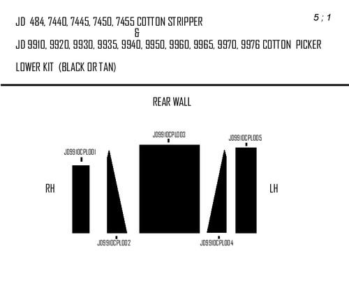 JD 7740 CS/9910 CP LOWER KIT (BLACK)