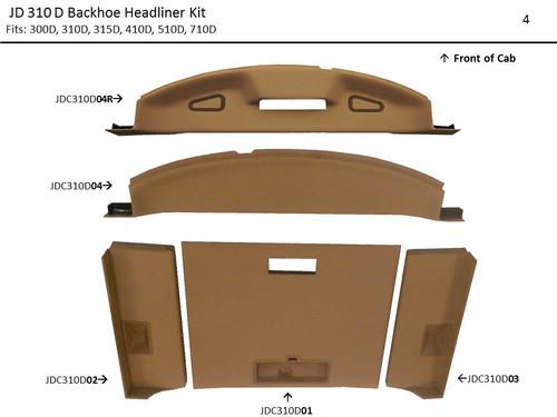 JOHN DEERE 300D-710D BACKHOE LOADER HEADLINER KIT