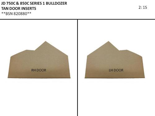 JD 750C-850C SERIES 1 BULLDOZER DOOR PANELS (TAN)