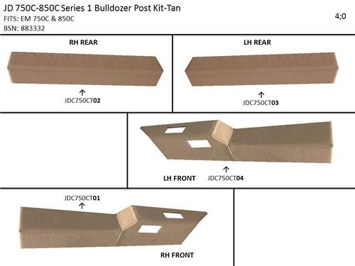 JD 750C-850C SERIES 1 BULLDOZER PROFORM POST KIT (TAN)