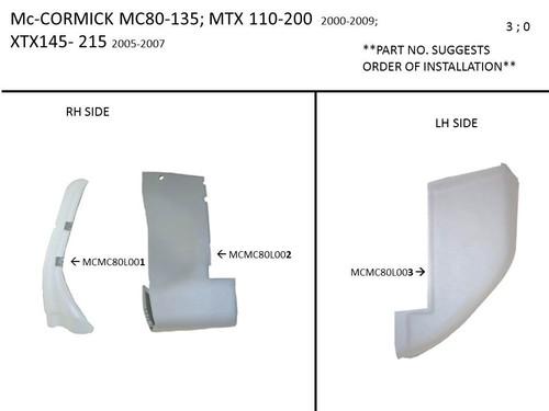 McCORMICK MC 80 - MTX 200, XTX STANDARD CAB  FORMED LOWER KIT