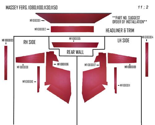 MF 1080 - 1150 KIT RED