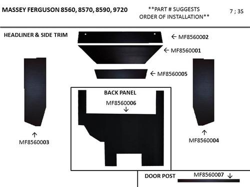MF 8560 - 9720 COMBINE CAB KIT