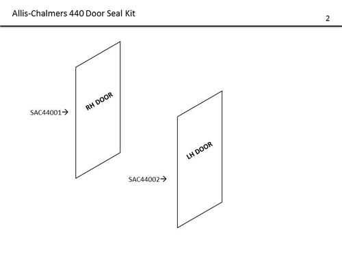 AC 440 4WD DOOR SEAL KIT