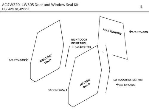 AC 4W220- 4W305 DOOR AND WINDOW SEAL KIT