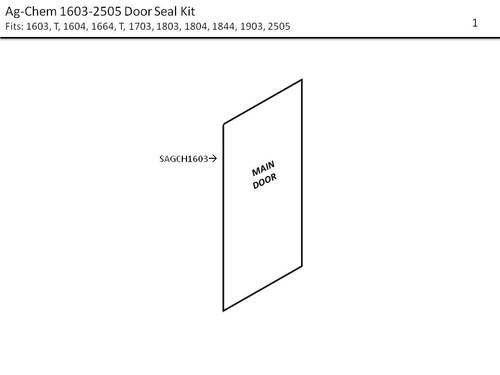 AG-CHEM 1603-2505  DOOR SEAL KIT