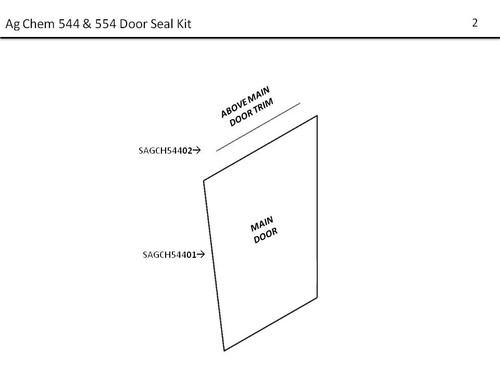 AG-CHEM 544, 554 DOOR SEAL KIT