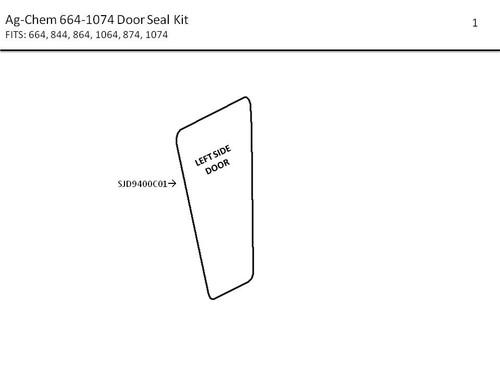 AG-CHEM 664-1074 DOOR SEAL KIT
