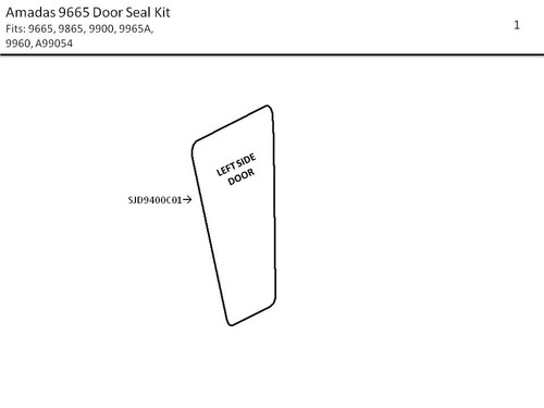 AMADAS 9665 DOOR SEAL KIT