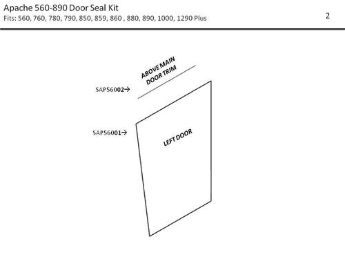 APACHE 560 -890 DOOR SEAL KIT