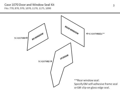 CASE 1070 DOOR & WINDOW SEAL KIT