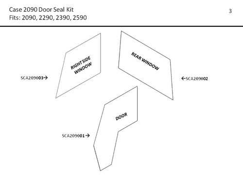 CASE 2090-2590 DOOR AND WINDOW SEAL KIT