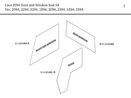 CASE 2094-3594 DOOR AND WINDOW SEAL KIT