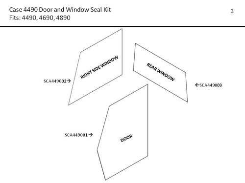CASE 4490-4890 & 4494-4994 DOOR AND WINDOW SEAL KIT